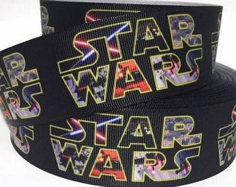 "Star Wars Ribbon 7//8/"" Wide NEW UK SELLER"
