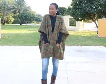 Ruana Crochet Pattern, Cover Me Ruana Crochet Pattern, Chunky Ruana Crochet Pattern, Pocket Ruana Crochet Pattern, Crochet Wrap with Pockets