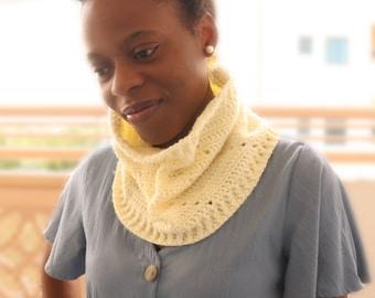 Crochet Cowl Pattern, Beginner Crochet Cowl, Simple Crochet Pattern. Crochet Accessory, Filet Crochet