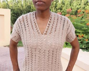 Open Waves Top Crochet Pattern, Women's Top, Summer Wear, Casual Wear, Crochet for Women, Summer Patterns, Crochet Top,Summer Wear for Women