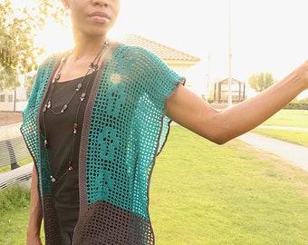 Crochet Cardigan Pattern, Filet Crochet Pattern, Freedom Cardigan, Summer Cardigan, Summer Clothing, Crochet Crosses, Lightweight Clothing