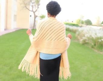 Prayer Wrap Crochet Pattern- Crochet Wrap, Reversible Prayer Wrap, Prayer Shawl Pattern, Crochet Cardigan, Corner to Corner Crochet Pattern