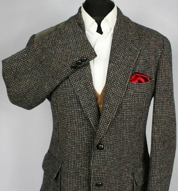 Norfolk Tweed Jacket Blazer Brown Shooting Hunting