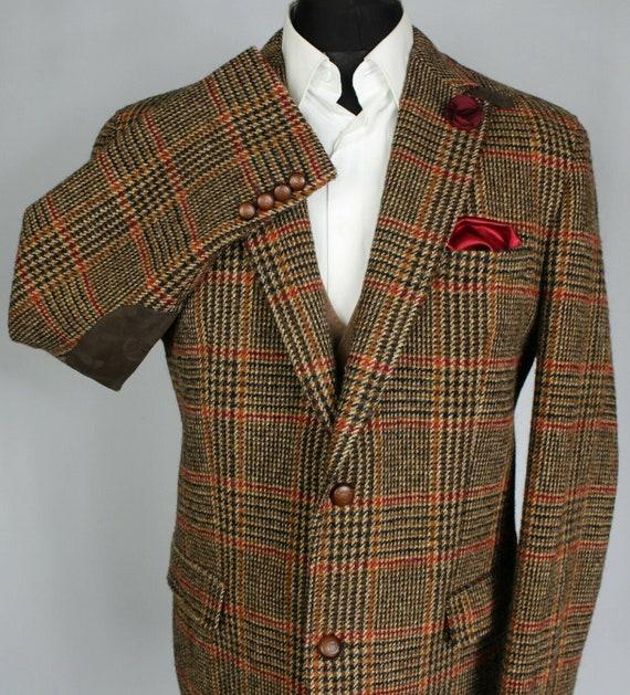 Harris Tweed Jacket Blazer Brown 44R BARUTTI COLLE