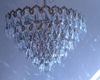 Crystal chandelier | Etsy