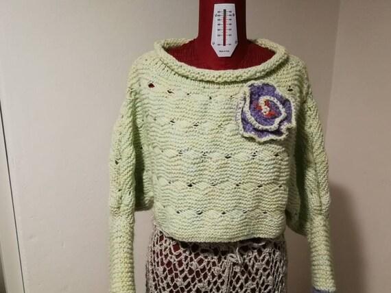 Maglia Di Lana E Mohair Realizzata A Mano Con Ferri Modello Unico Ed Esclusivo Morbido Leggero E Tanto Caldo Moda Da Donna Per Inverno