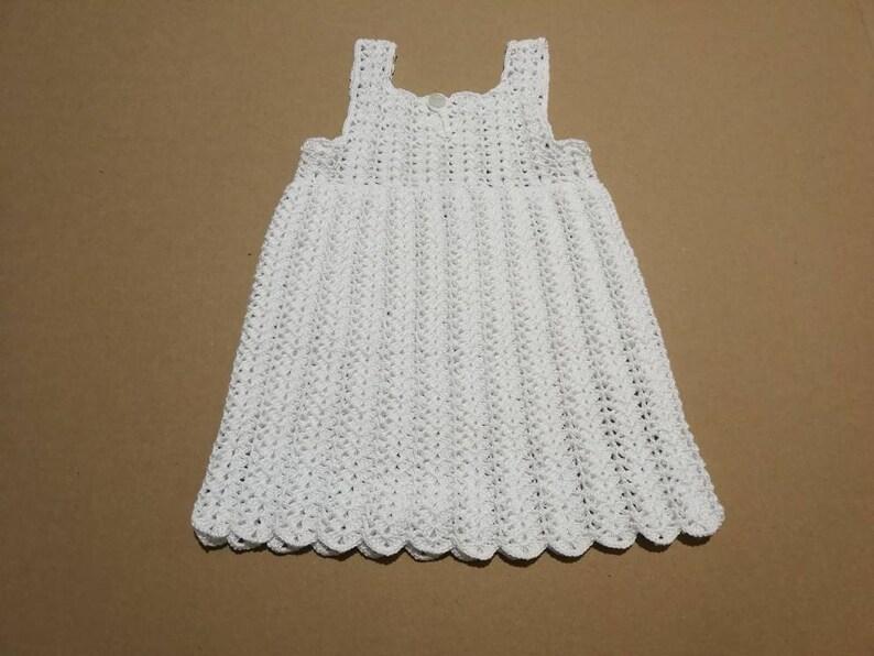 Vestiti Verde Tiffany Bambina.Vestito Bianco Per Bambina Vestitino Di Cotone Realizzato A Mano E Uncinetto Modello Unico Ed Esclusivo Abbigliamento Bambina Per Battesimo