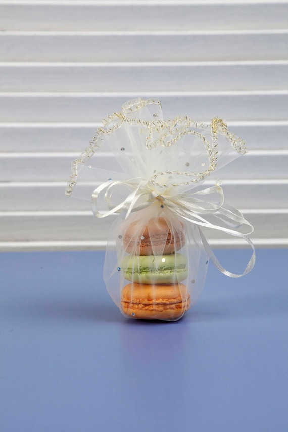 10 Pcs Organza Bag Round Gift Pouch Baby Shower Party Favor Etsy