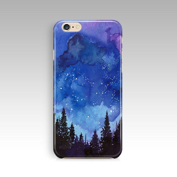 separation shoes b8918 70655 Watercolor Galaxy Scenery Case For iPod 5 Case For iPod 6 Case For iPhone 6  6s Case For iPhone 7 7 Plus Case For iPhone 8 8 Plus Case Blue