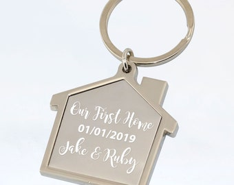PERSONALISED First Home Keyring Our First Home Keyring Customised Names    Date House Gift Home Gift e91b9acc5