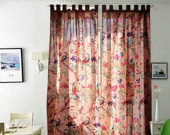 Frida boho curtains, eclectic curtains, Frida curtains, boho decor, boho curtain panels, boho home decor TWO PANELS, Christmas gift