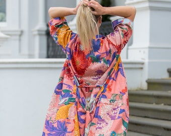 Green Kimono Robe Beach Kimono Beach Coverup Bath Robe Womens Kimono Lounge Robe House Robe Beach Robe Gifts Designer Clothes