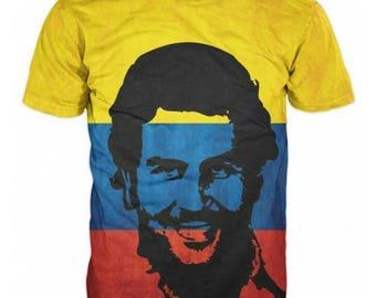 New Ultramodern 3D Pablo Escobar Mens T-shirt