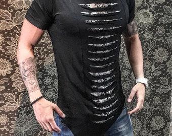 Unique High Quality Black Style  Mens  T-shirt