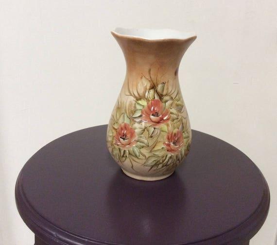 Pintado A Mao Rio De Janeiro Hand Painted Vase Vintage Vases Etsy