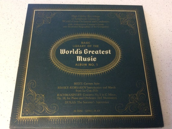 Basic Library Of The World's Greatest Music Record Album Collection, Vinyl  Records, Vintage Albums, Vintage Records, Sympathy Composers