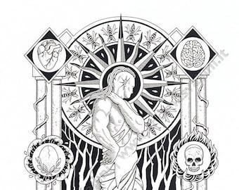 Poster art-neutrality-print, illustration, Divine Comedy, art print, modern design