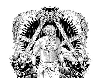 Poster Art-Gola-Press, illustration, Divine Comedy, art print, modern design