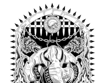 Poster art - Avarice - Print, Illustration, Divine Comedy, Art Print, Modern Design