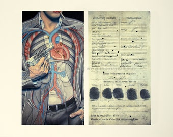 Illustration posters-Ashes to Ashes-press, artwork, poster art, anatomy, art print, modern design