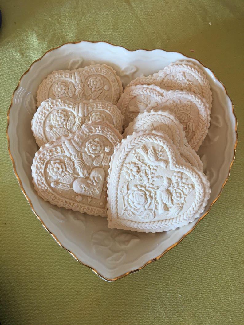 Springerle Cookies One Dozen Hearts Traditional German Specialty Anise Vanilla Or Lemon Cookies Birthday Bridal Shower Wedding