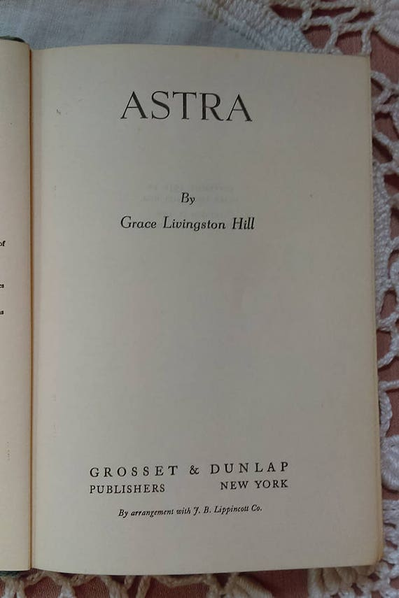 Astra By Grace Livingston Hill Etsy