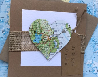 Wedding Card with personalised map