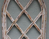 Wooden Antique Style Church WINDOW Frame Primitive Wood Gothic 30 1 2 quot Shabby