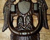 Huge Cast Iron Antique Victorian Style AMERICAN EAGLE Door Knocker USA Man Cave