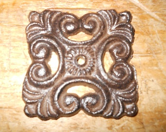 12 Cast Iron Antique Style Barn Handle Drawer Pull Shed Door Handles BACK PLATE