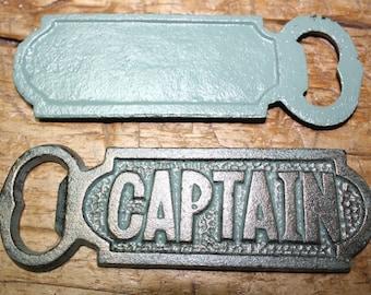 Cast Iron CAPTAIN Bottle openers, Sea Nautical opener SHIP Boat Heavy NAVY