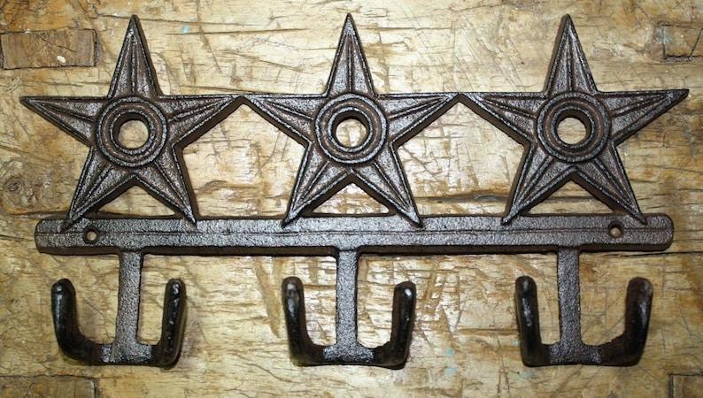 Metal Horseshoe Star Swivel Wall Hook Tree Hat Rack Coat Hanger Western Decor