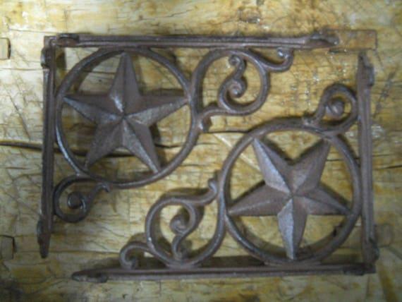 4 Cast Iron Antique Style LARGE RING Brackets Garden Braces Shelf Bracket