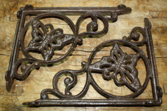 Garden Braces COWBOY Shelf Bracket TEXAS 8 Cast Iron GUN Style PISTOL Brackets