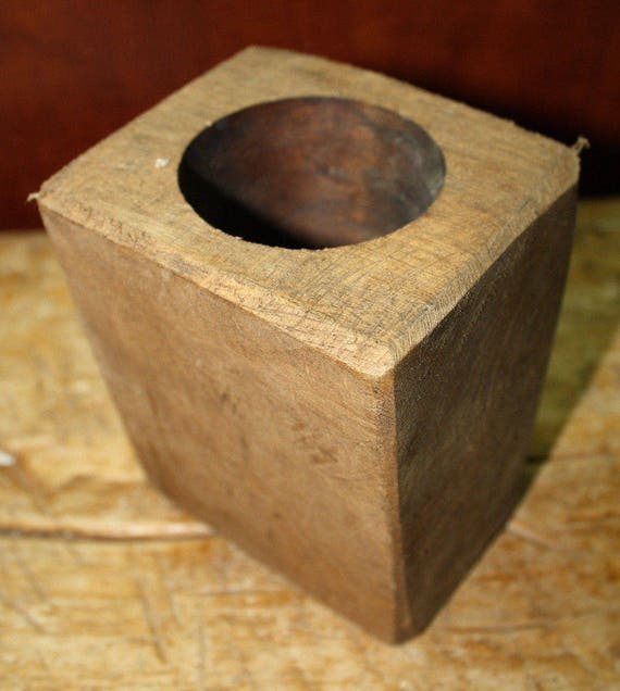 Lot of 3 5 Hole Wooden Sugar Mold Wood Candle Holder Primitive