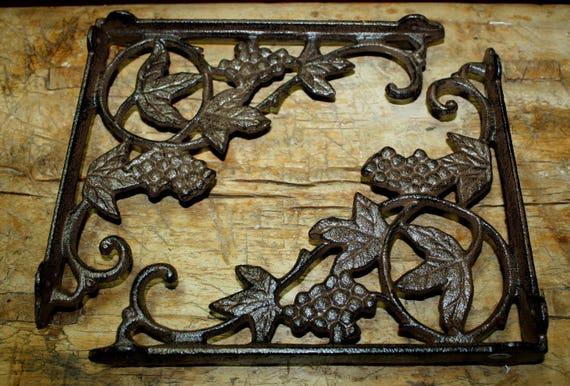 6 Cast Iron Antique Style ANGLE Brackets Garden Braces Shelf Bracket CABLE