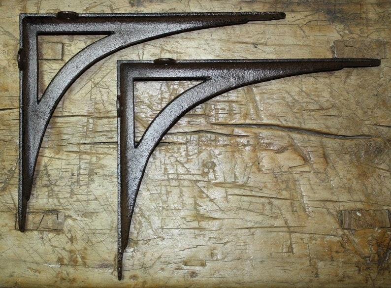 4 Cast Iron Antique Style HEAVY DUTY VINE Brackets Garden Braces Shelf Bracket