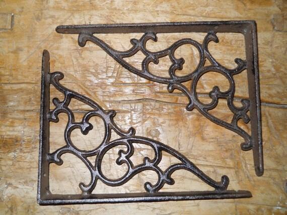 12 Cast Iron Antique Star Brackets Garden Braces Shelf Bracket RUSTIC Vintage