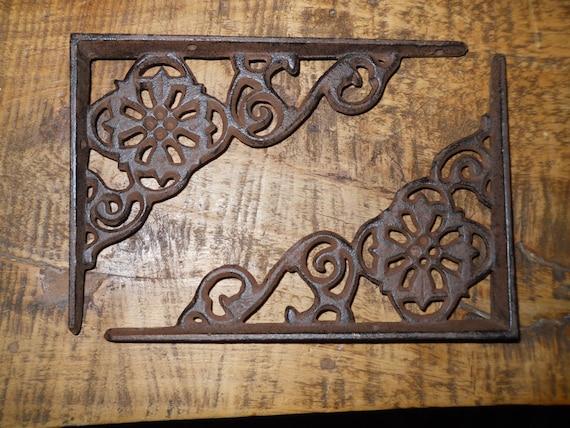 12 Cast Iron Antique Style Web  Brackets Garden Braces Shelf Bracket
