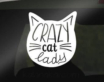 Crazy Cat Lady Decal, Cat mom, Cat lady, Cat mom decal, Cat mom sticker, Crazy Cat Lady Sticker, Cats, Petmom, Crazy Cat cup