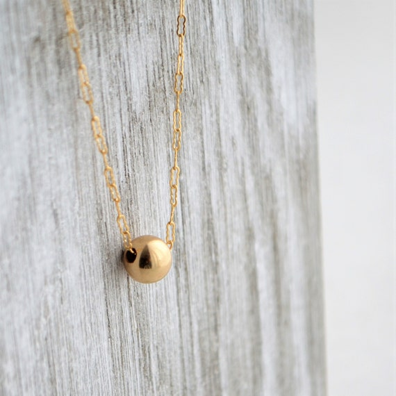 Minimalist Bead Necklace, Dainty Gold Dot Necklace, Gifts For Her, Delicate Layered Necklace, Gift For Mom, Collier Or by Etsy