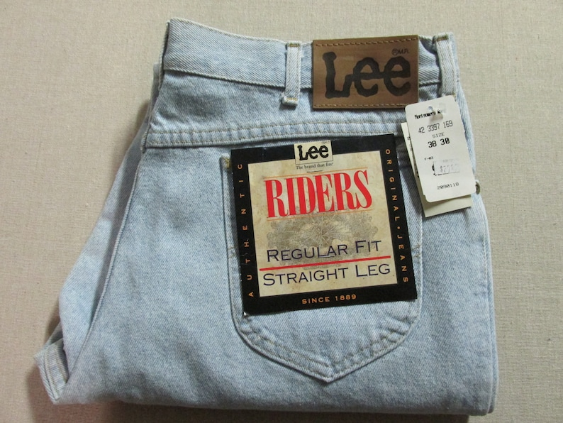 Details about New Original Vintage Lee Rider Straight Leg