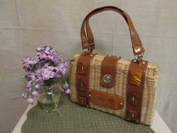 Vintage 1950's-1960's Stylecraft Miami Wicker & Lu