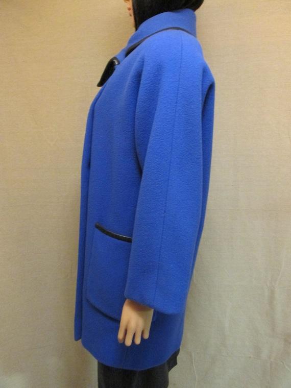 Vintage 1980's Pauline Trigere Royal Blue & Black… - image 3