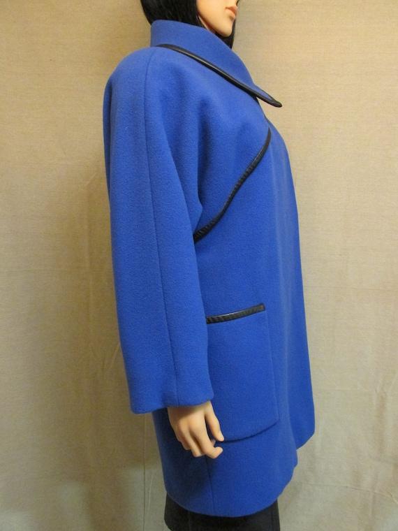Vintage 1980's Pauline Trigere Royal Blue & Black… - image 5