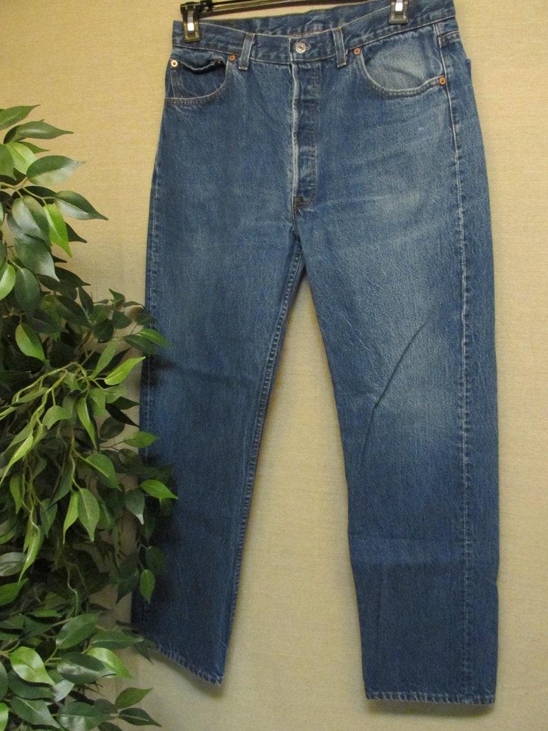 e61a1bc7cbf Vintage Levis 501 Regular Fit Straight Leg Blue Denim Jeans 32 | Etsy