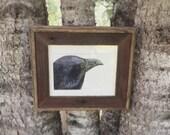 Inquisitor Raven portrait original watercolor painting
