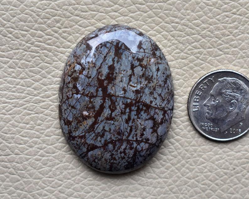 Natural Snowflake Obsidian Gemstone 53 Cts Brown Snowflake Obsidian Cabochon Jewelry making Snowflake Obsidian 36x28x7 MM AM74