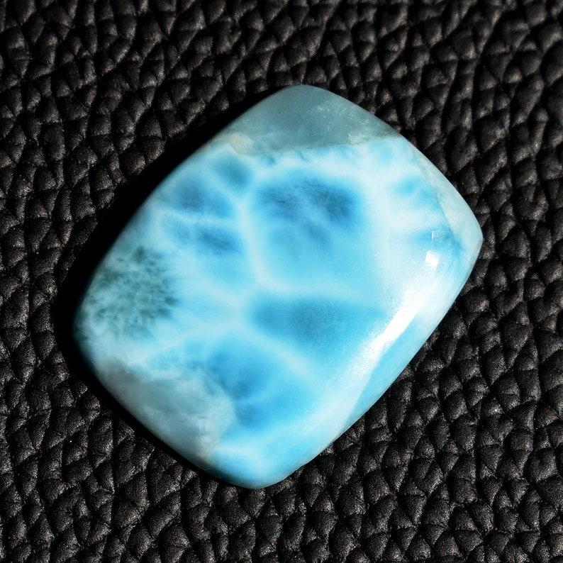 34.78 Ct Natural Dominican Larimar Gemstone Blue Pectolite Larimar Cabochon Jewelry Making Larimar Gemstone 28x22x5 MM AM524
