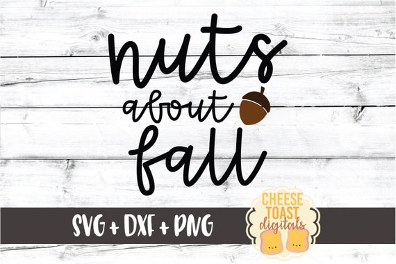 Nuts About Fall Svg Png Dxf Cut Files Women S Fall Shirt Etsy